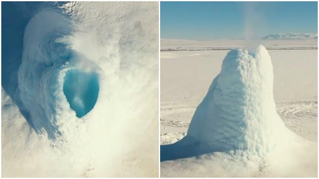 Jégvulkán Kazahsztánban