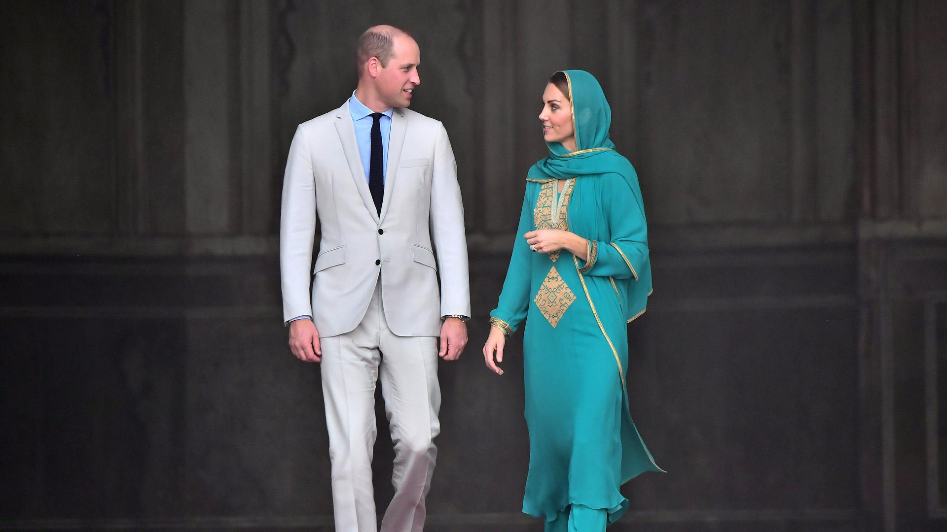 Vilmos herceg és Katalin hercegné Pakisztánban 2019-ben