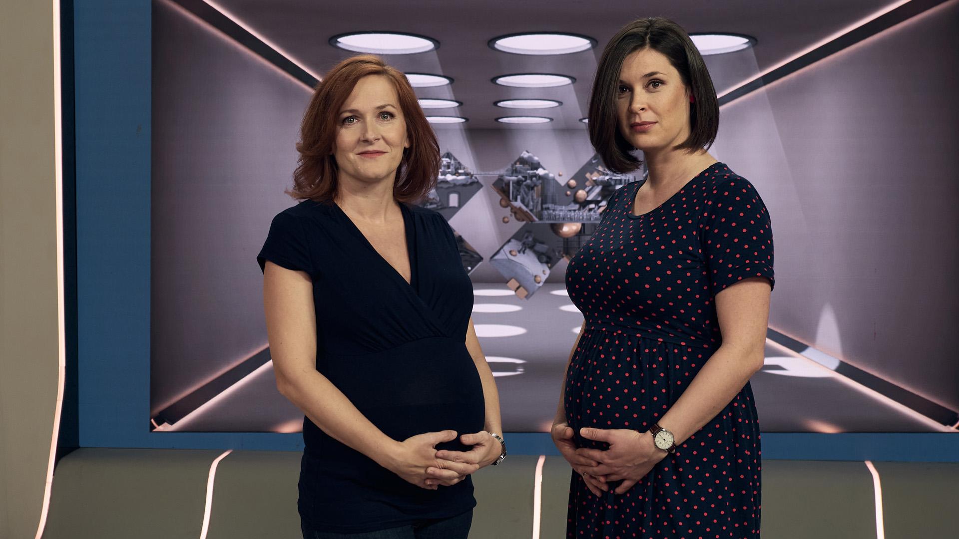 XXI. század várandós műsorvezetői: Szondi Vanda és Veress Kriszta