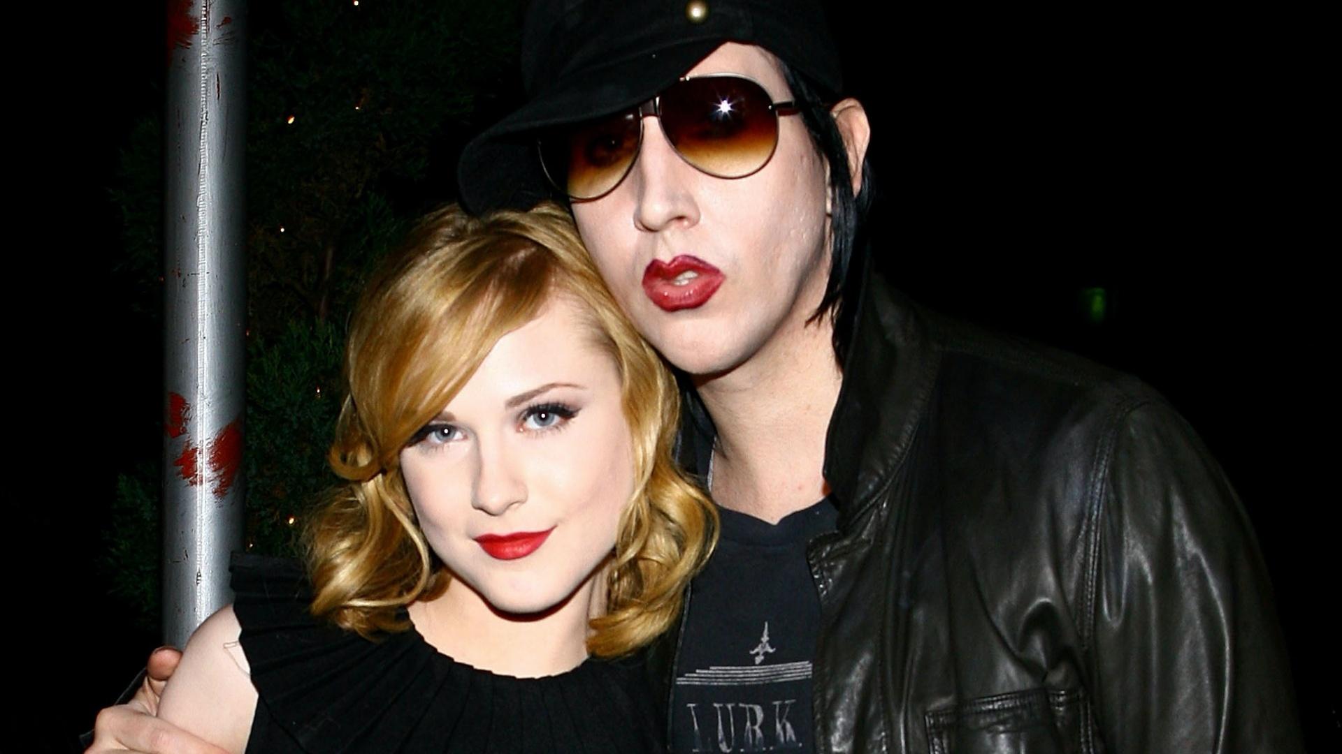 Evan Rachel Wood színésznő és Marilyn Manson
