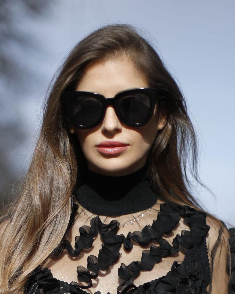 nagyméretű napszemüveg - street style