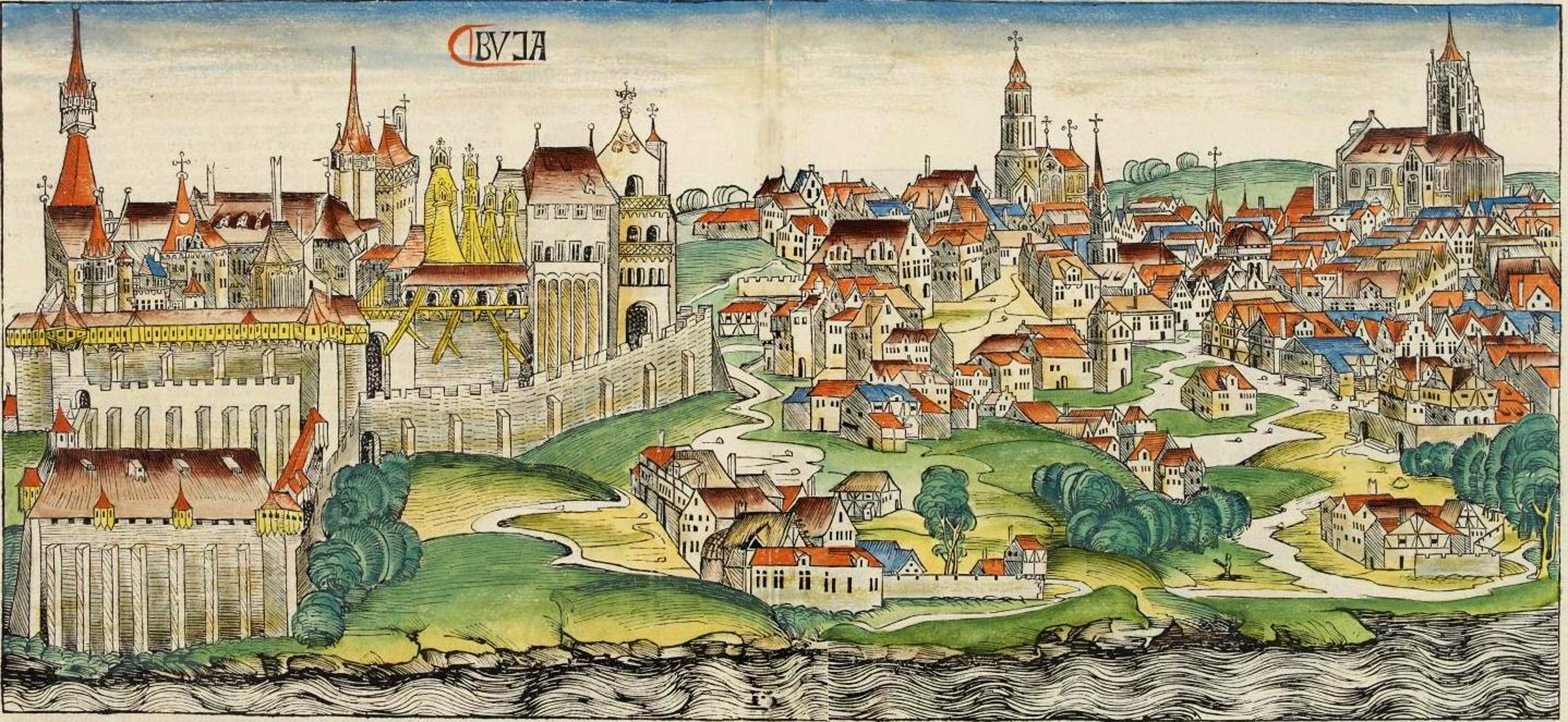A középkori Buda látképe (forrás: Wikipedia)