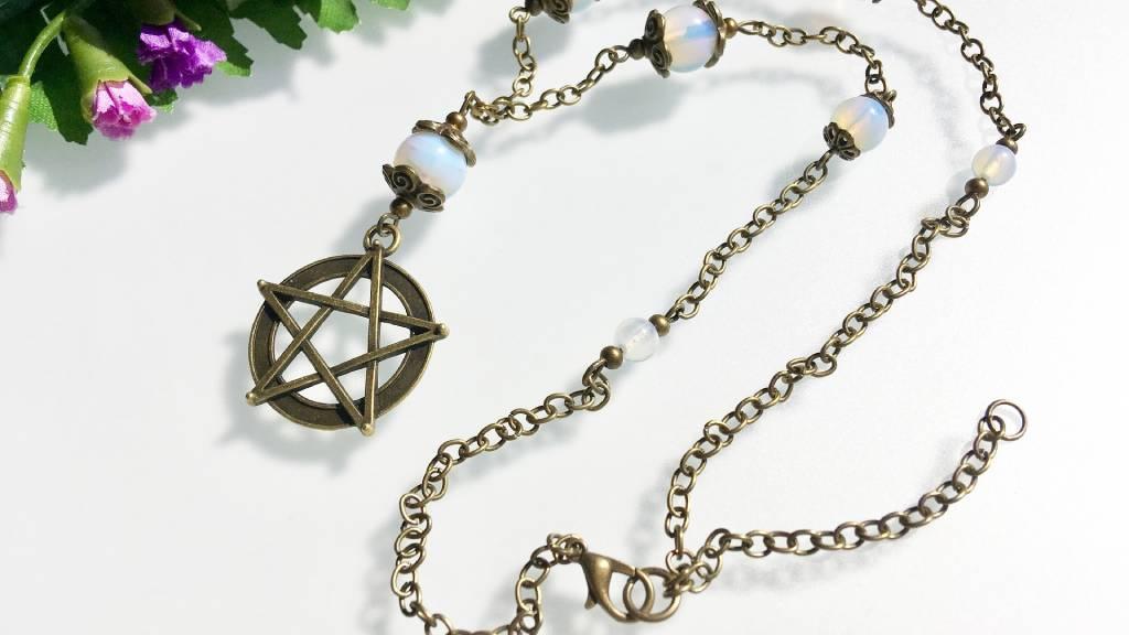nyaklánc pentagram medál