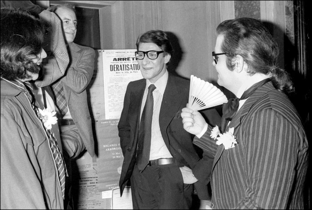 Pierre Berge, Yves Saint Laurent és Karl Lagerfeld