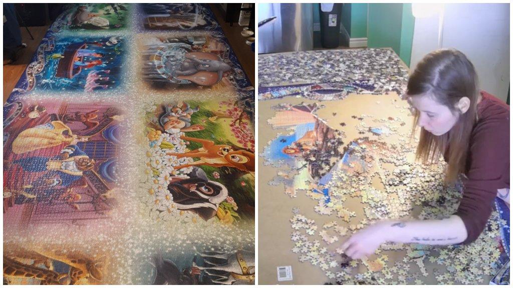 Rekordidő alatt rakta ki a világ legtöbb darabból álló puzzle-ját