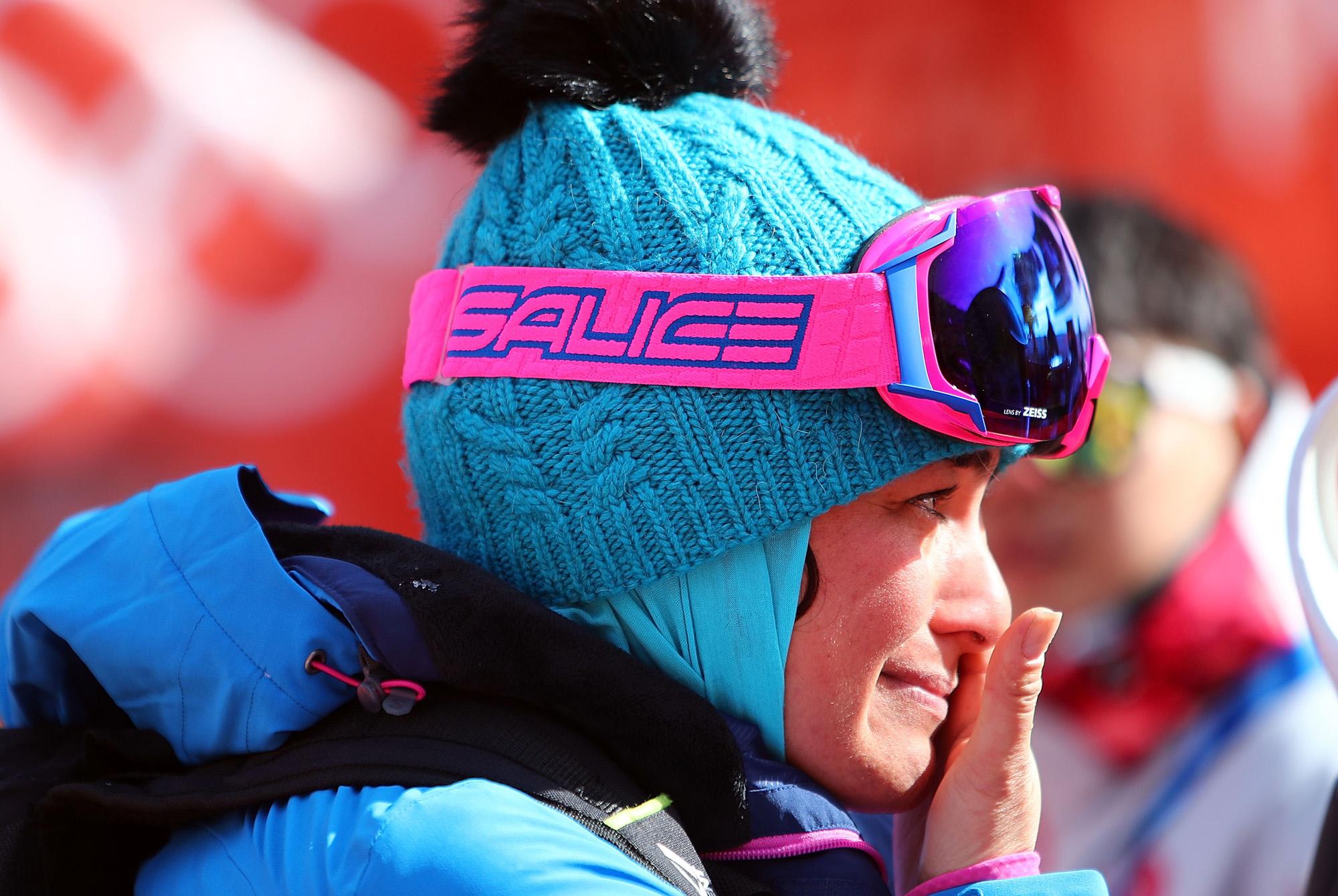 Szamira Szargari, az iráni alpesisí-csapat kapitánya