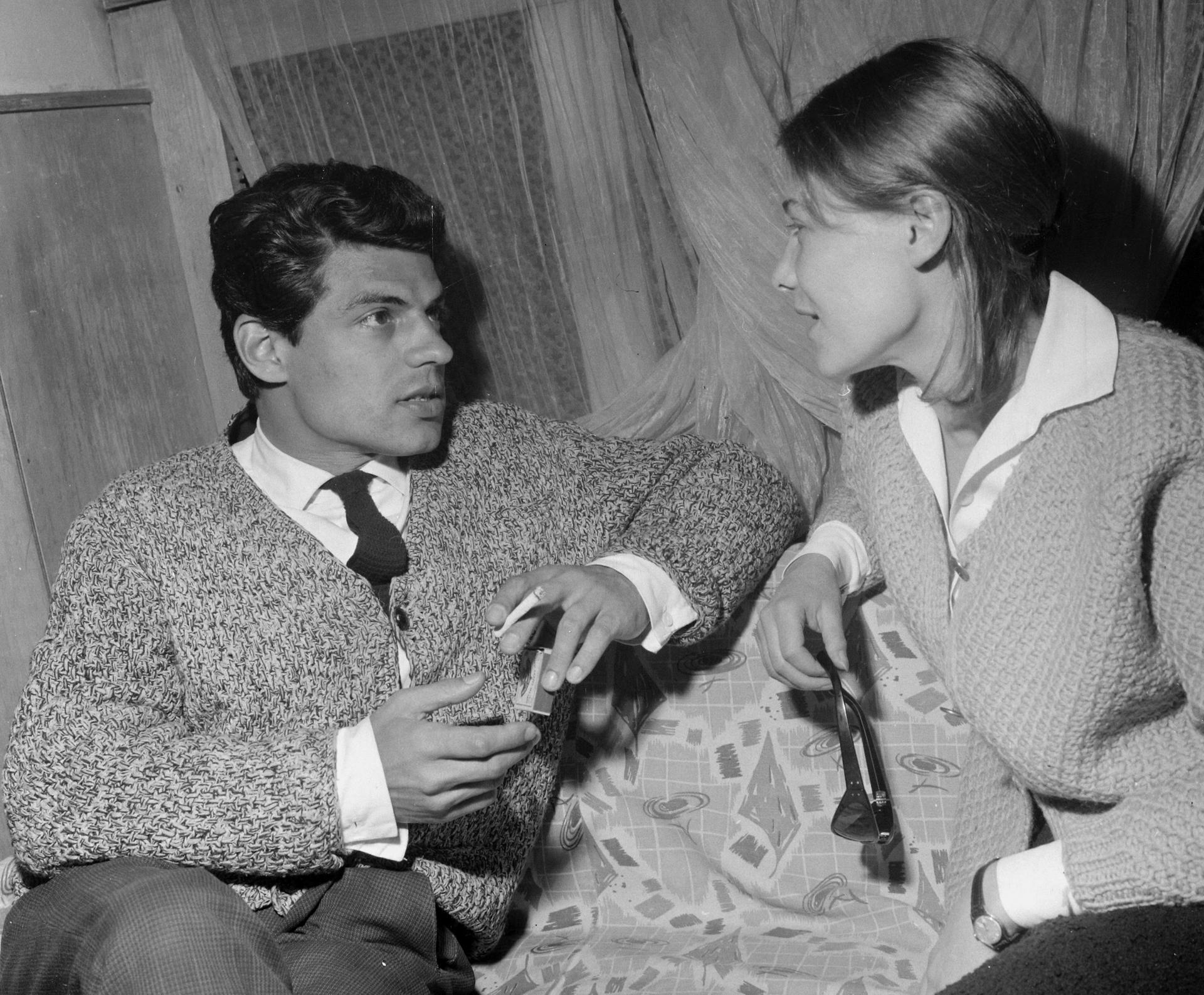 Sztankay István és Törőcsik Mari a Zorin: Varsói melódia című darabjának próbáján, 1965-ben (Fotó: Fortepan/Hunyady József)