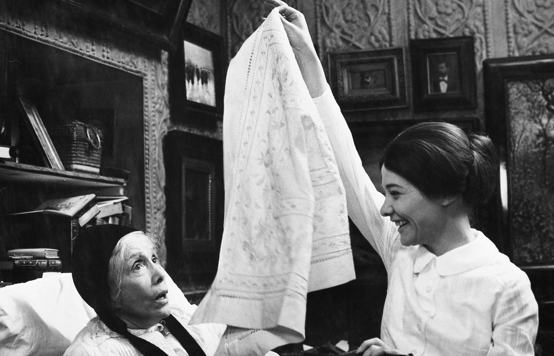A Szerelem c. filmben 1971-ben (Fotó: Mafilm Studio/Collection ChristopheL via AFP)
