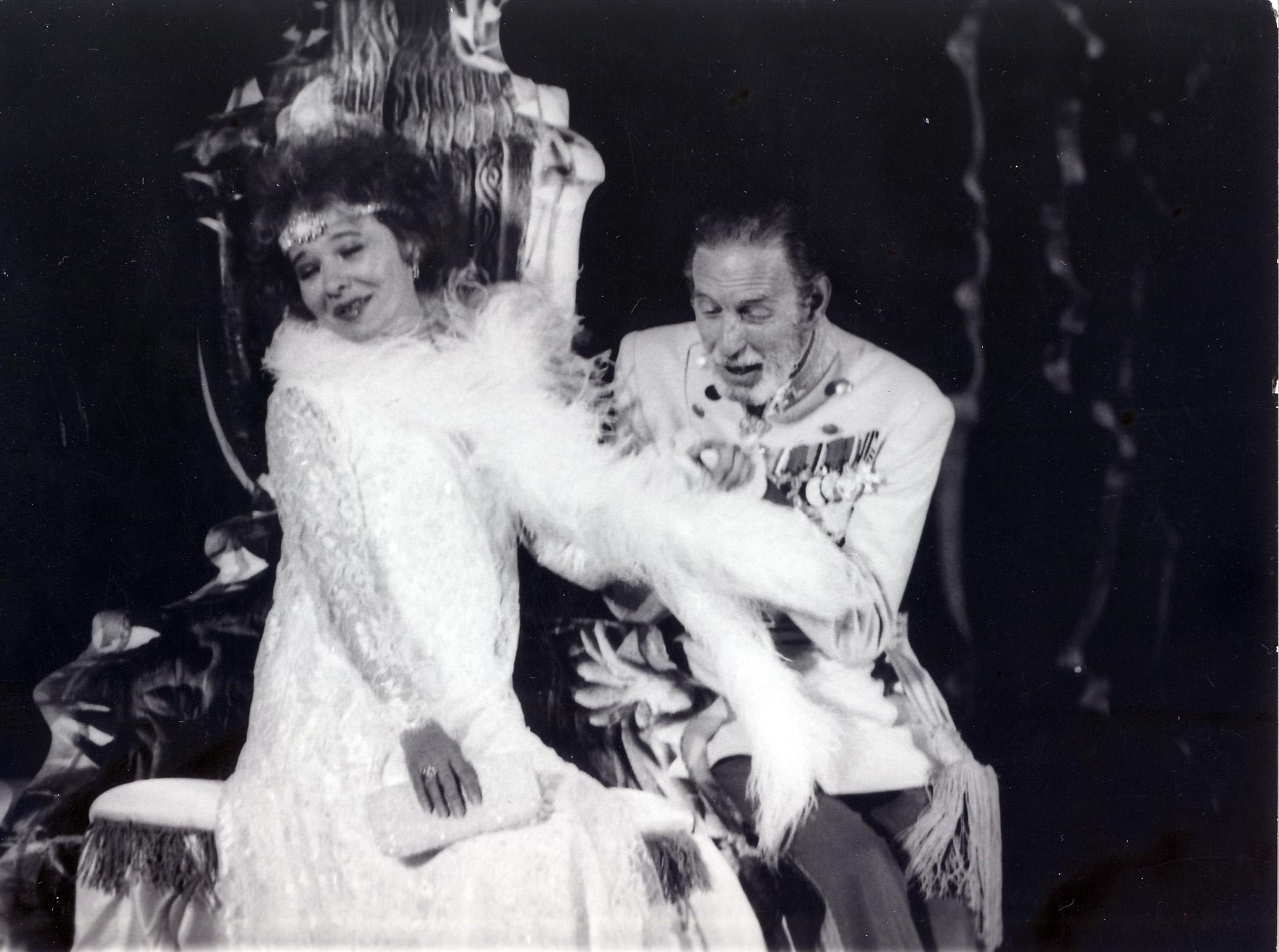 A Csárdáskirálynő című operett bemutatóján Budapesten, a Margitszigeti Szabadtéri Színpadon, 1985. (Fotó: Smag Archívum)