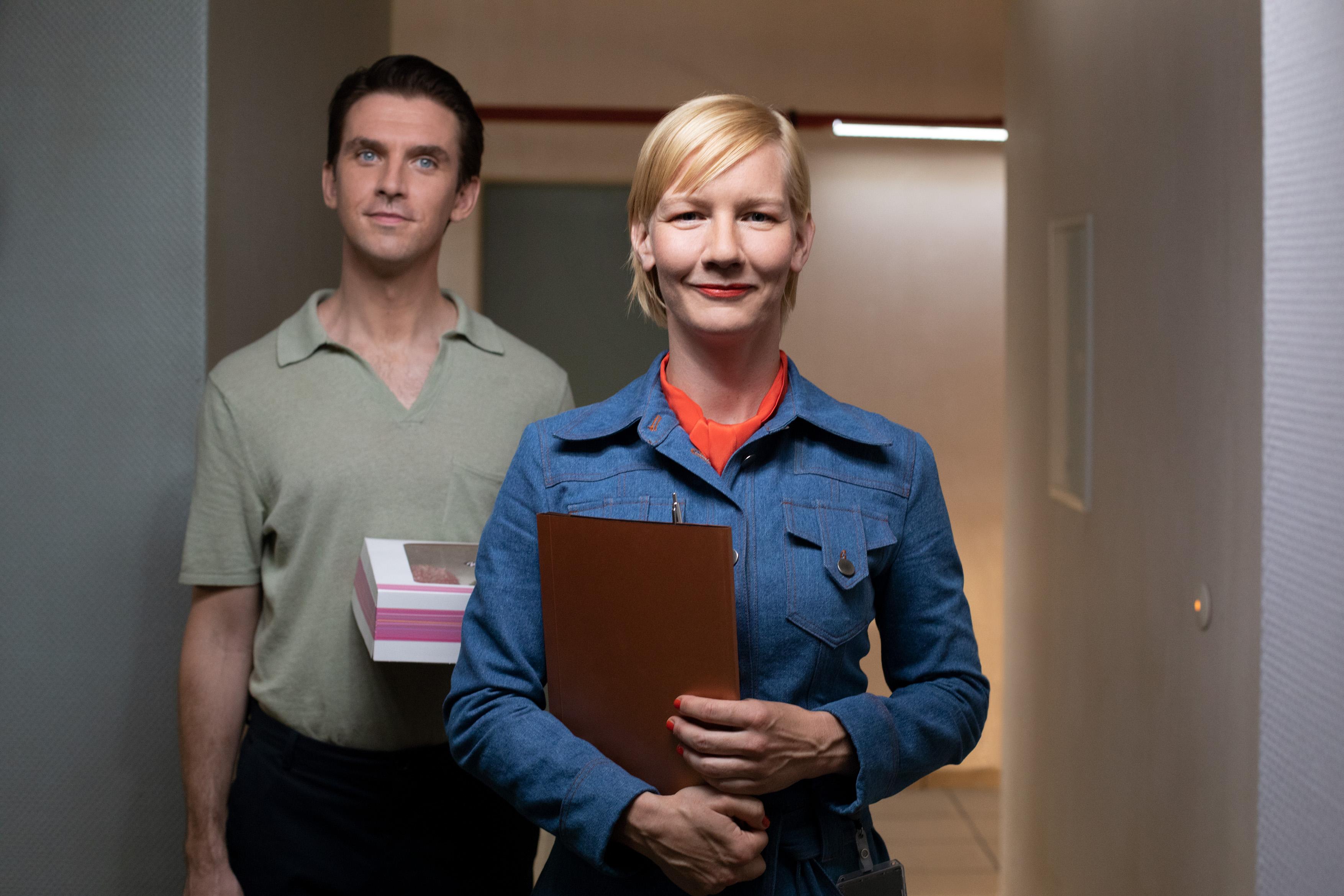 Dan Stevens és Sandra Hüller az Ich bin dein Densch című filmben (fotó: Berlinale)