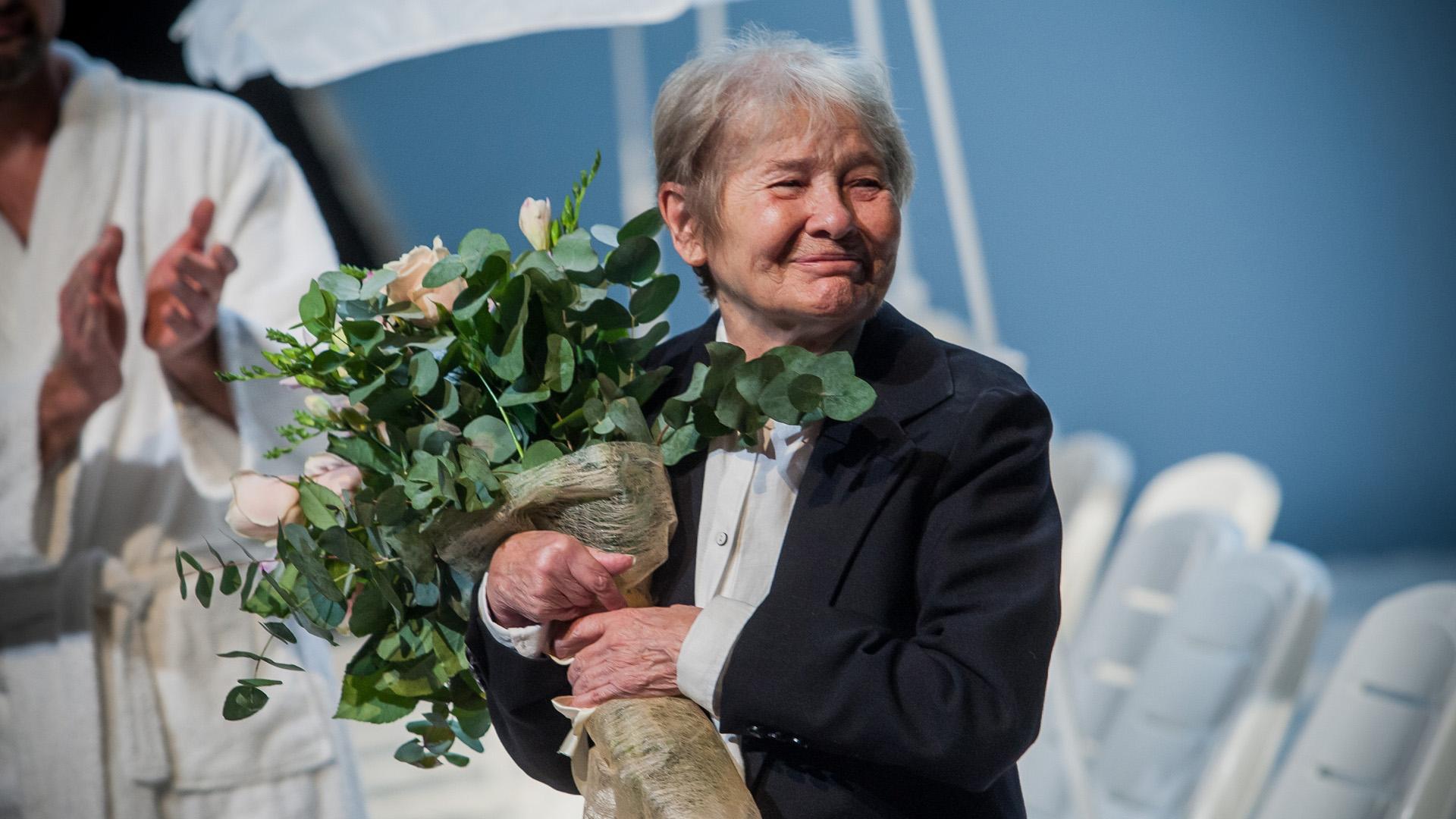 Törőcsik Mari színművésznőt köszöntötték 79. születésnapja alkalmából a Nemzeti Színház színpadán (Fotó: Birton Szabolcs)