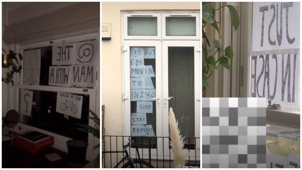 Flört ablakba tett üzenettel