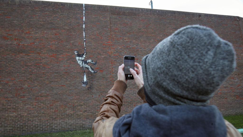 Banksy megmutatta, hogyan készült a legutóbbi műve