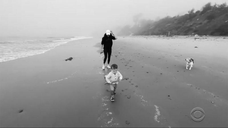 Archie Harrison és Meghan Markle a tengerparton