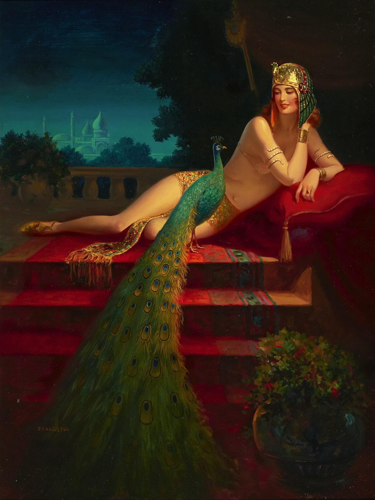 Kleopátra mint pin-up girl (forrás: Wikipedia)