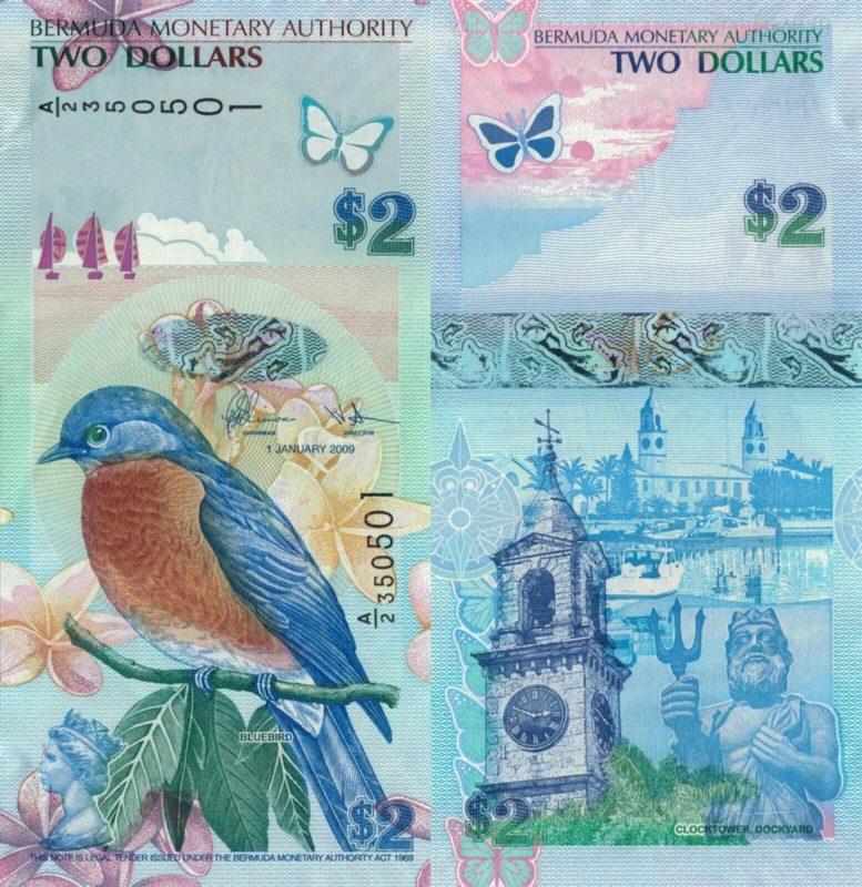 Bermuda, 2 dollár