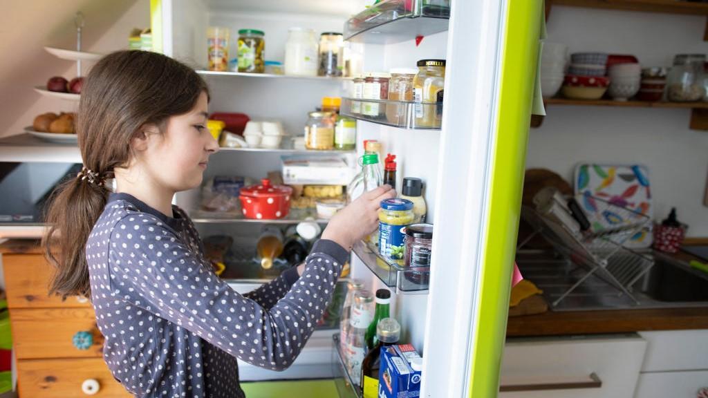 Kamasz lány a hűtőben
