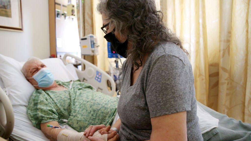 koronavírus, kórház, beteg