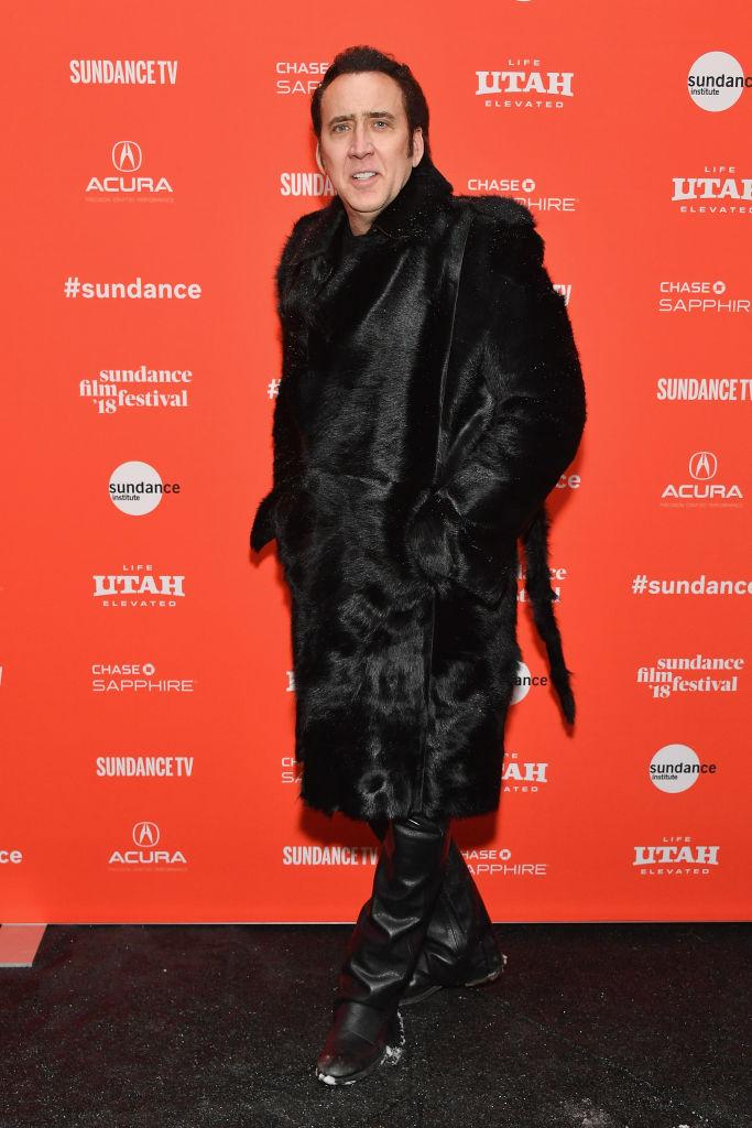 Nicolas Cage a Sundance Filmfesztiválon (Photo by Dia Dipasupil/Getty Images)