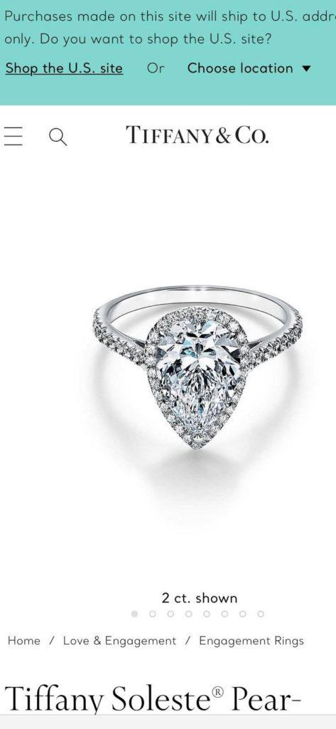 Várkonyi Andrea, gyűrű, Tiffany,