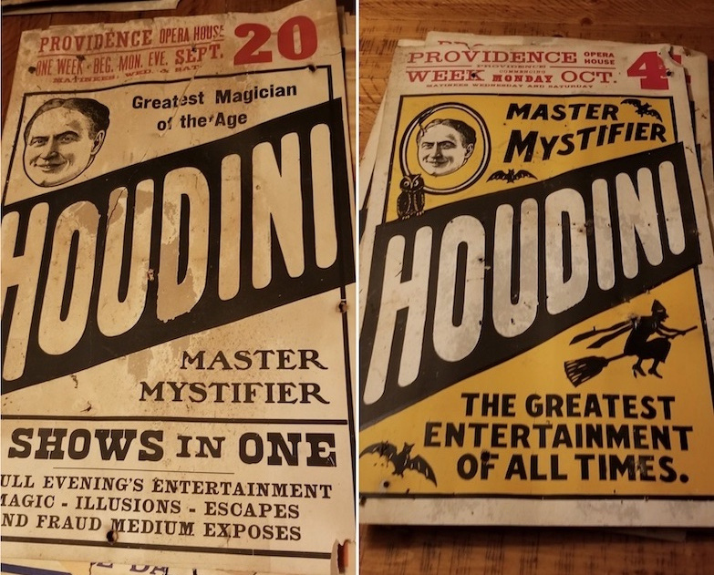 Több milliót is érhetnek a tapéta alól előkerült Houdini-plakátok