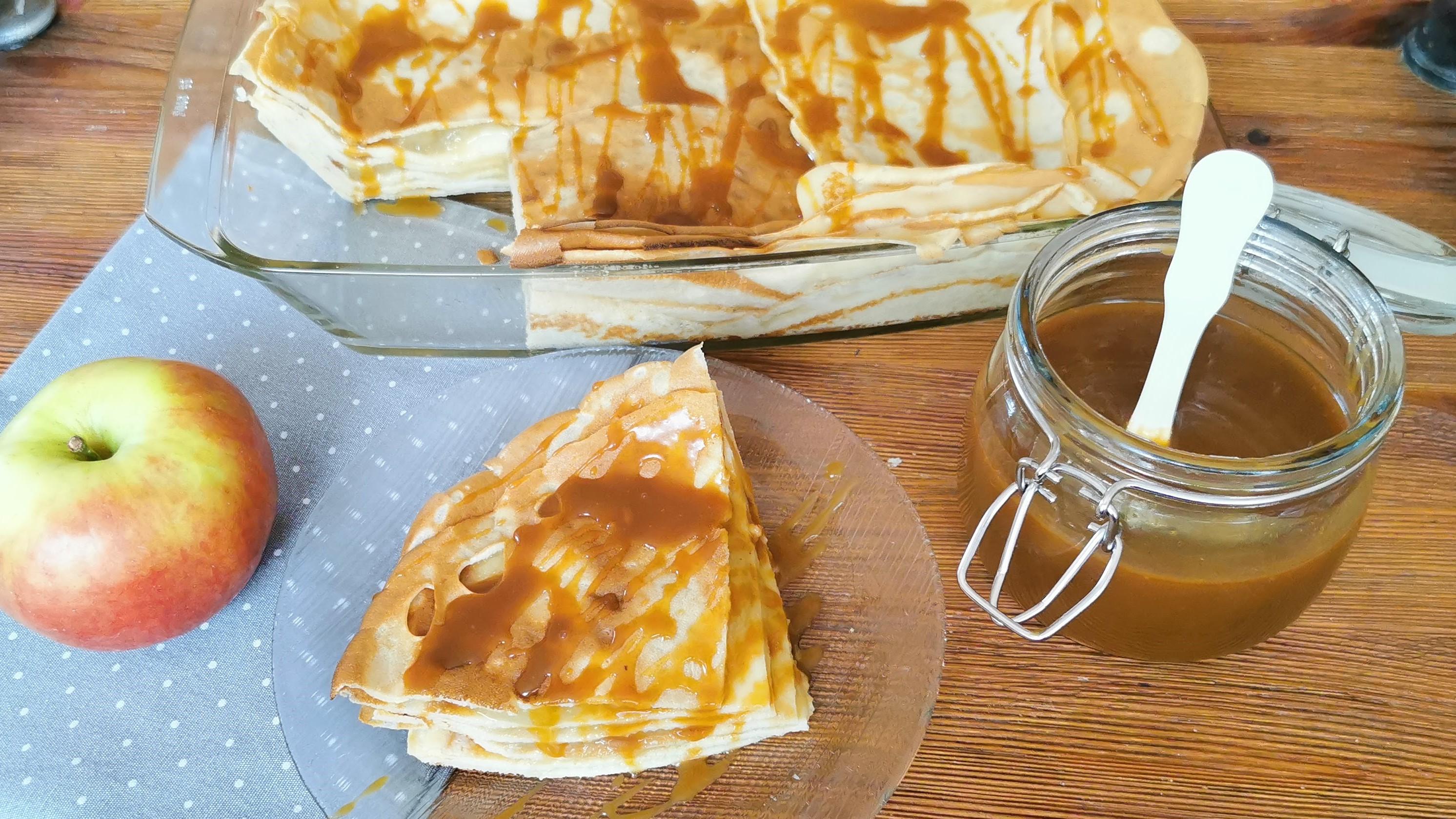almás-sós karamellás palacsinta