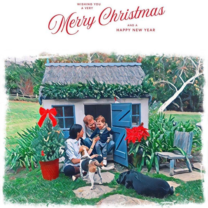 Meghan Markle, Archie Harrison és Harry herceg 2020 karácsony
