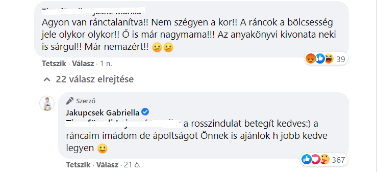 jakupcsek gabriella komment