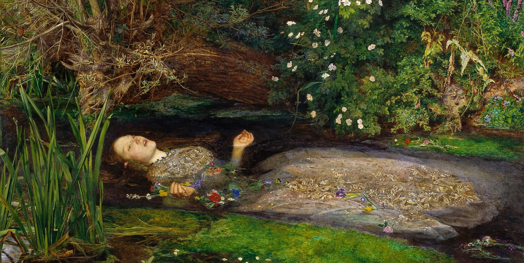 John Everett Millais Oféliája (forrás: Wikipedia)