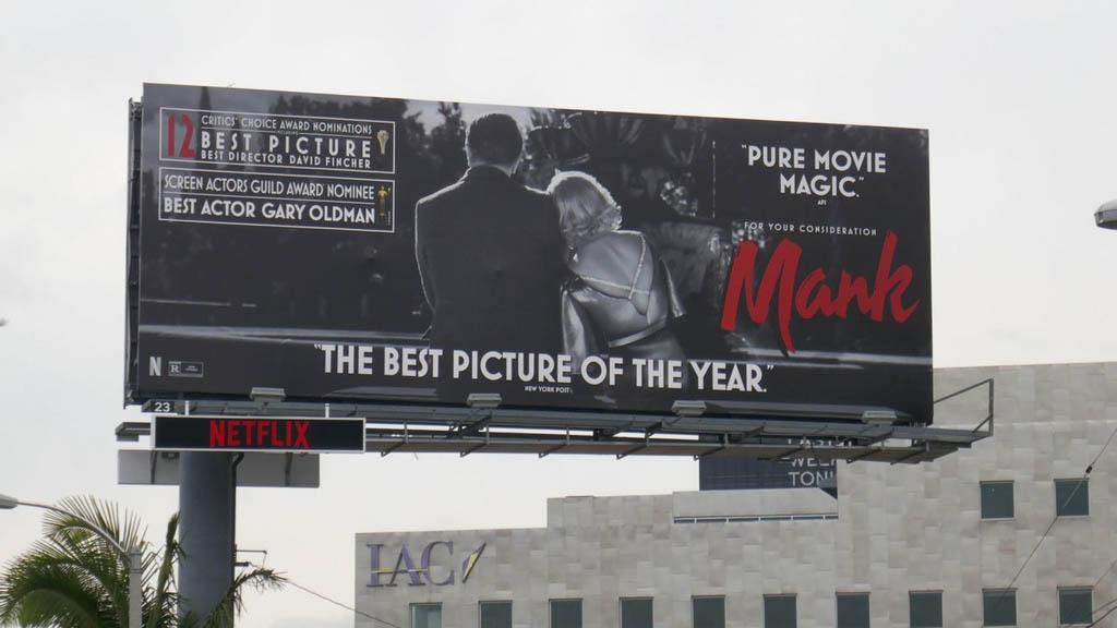 A Mank plakátja Los Angelesben