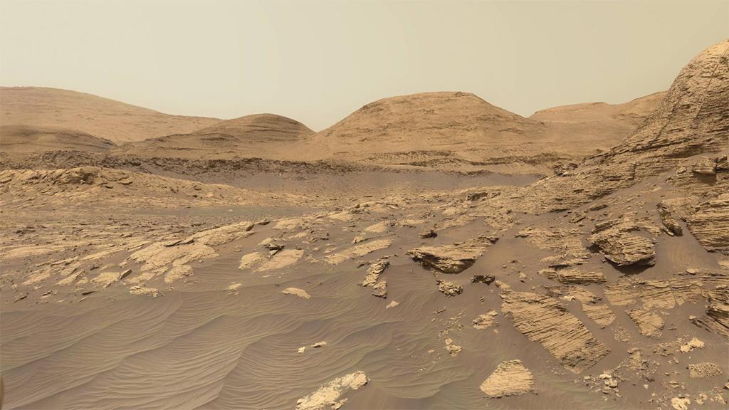 Panorámakép a Marsról