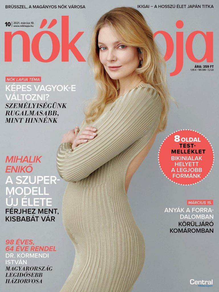 Mihalik Enikő terhes, lánya lesz a modellnek