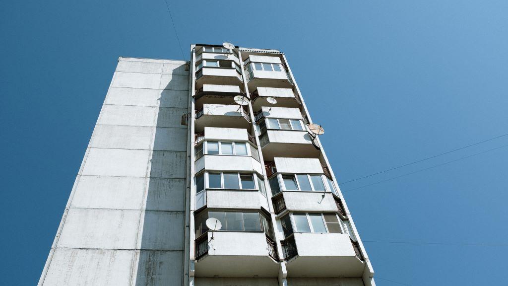 panel, ház, zuhanás