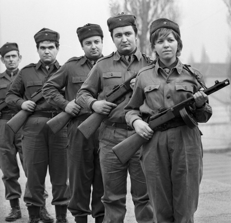 Munkásőrök 1972-ben (fotó: Fortepan/Urbán Tamás)