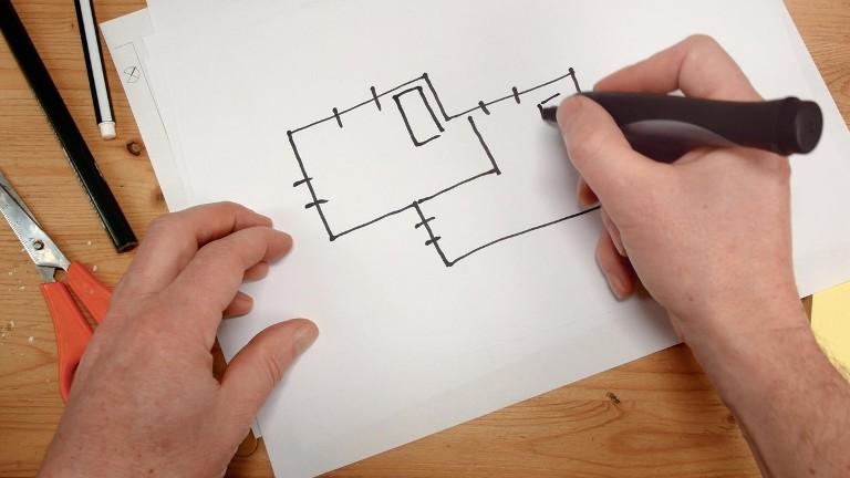 Papíron is jó tervezgetni, de egy 3D programmal hatékonyabb és látványosabb (fotó: profimedia.hu)