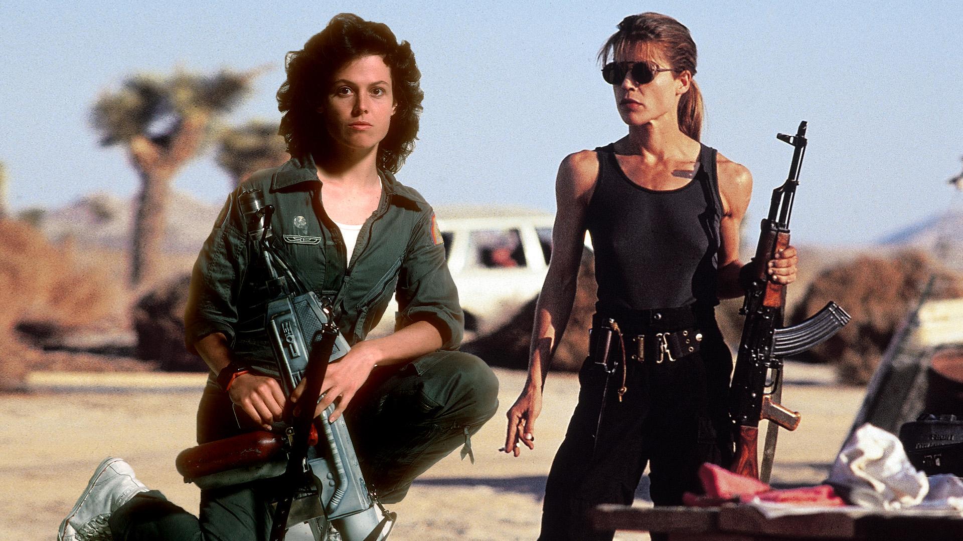 Sigourney Weaver és Linda Hamilton