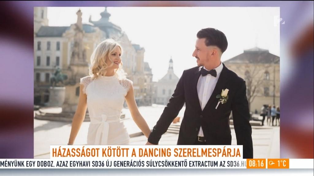 Összeházasodott Sipos Viktória és Szabó Gábor, a Dancing with the Stars táncosai