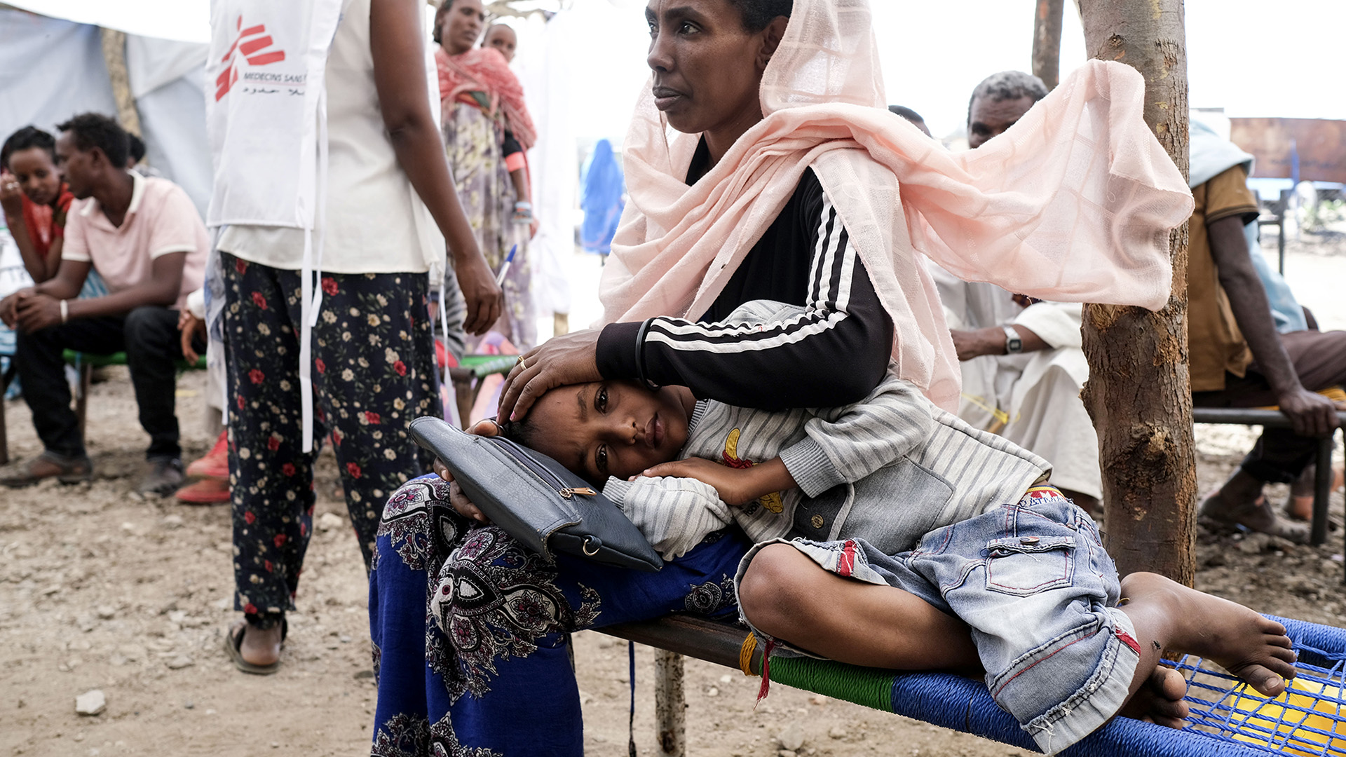 Szudáni menekülttábor