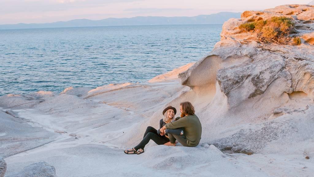 pár tenger sziklák