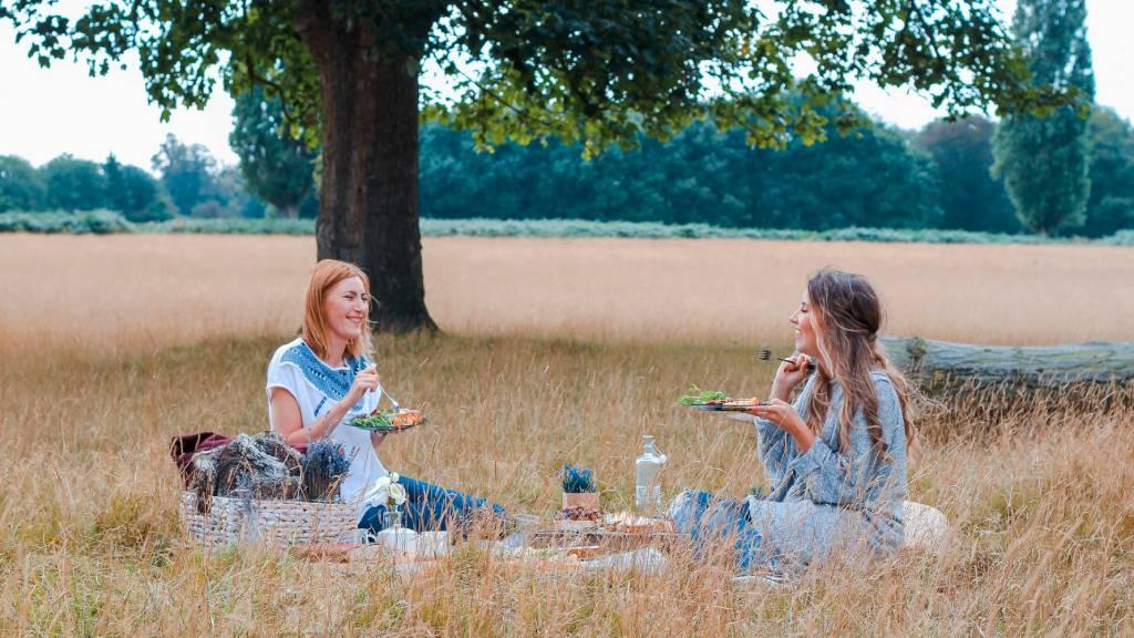 piknik nők mezőn