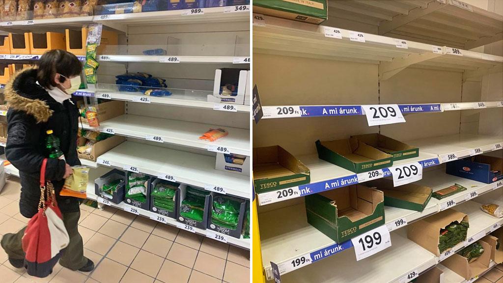 Pánik és fosztogatás a szupermarketekben