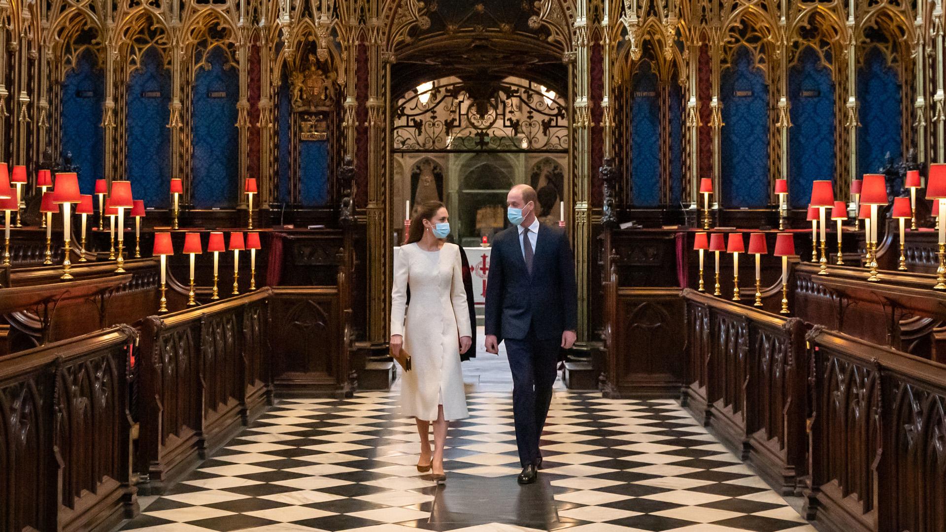 Katalin hercegné és Vilmos herceg visszatértek az esküvőjük helyszínére