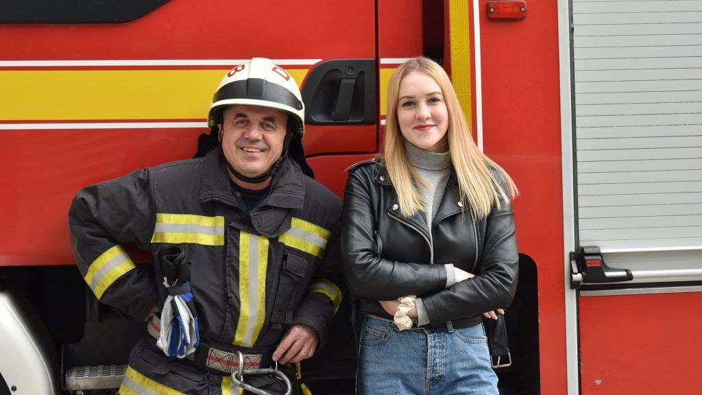 Vékás Gréti,, tűzoltó, mentés