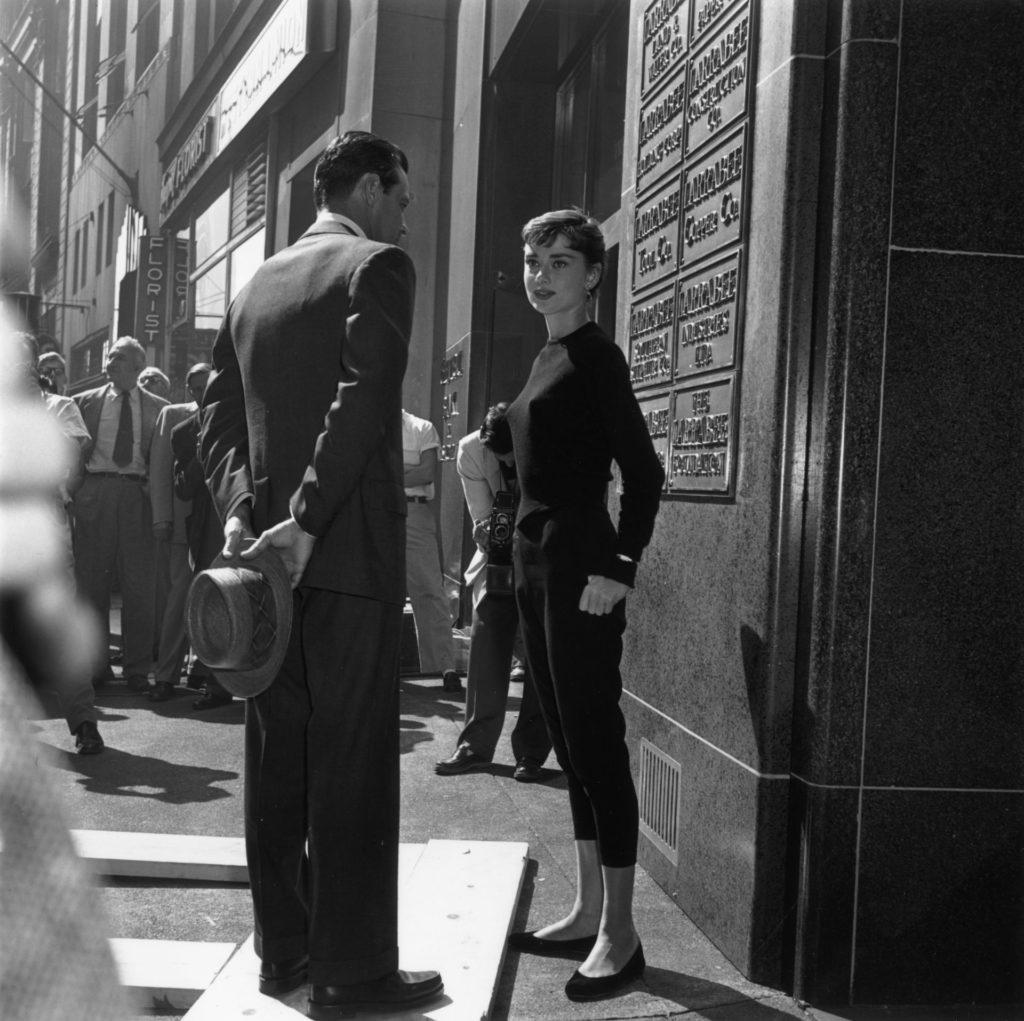Audrey Hepburn a Sabrina forgatásán 1953-ban