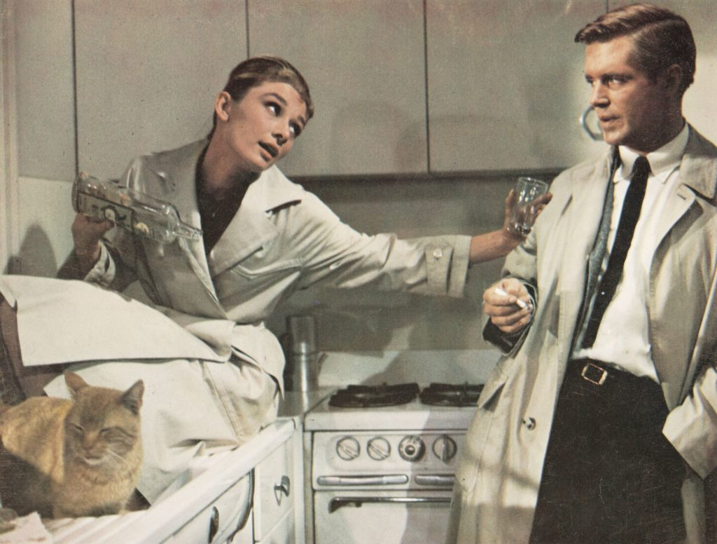 Audrey Hepburn és George Peppard az Álom luxuskivitelben egy jelenetében