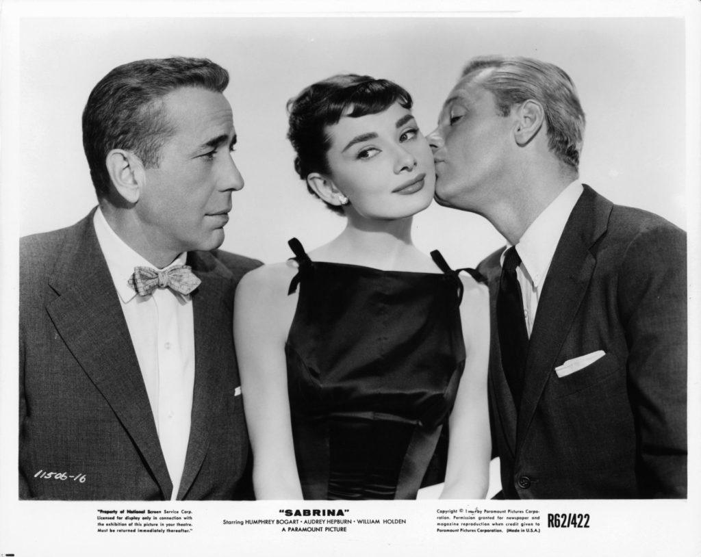 Humphrey Bogart, Audrey Hepburn és William Holden, a Sabrina főszereplői