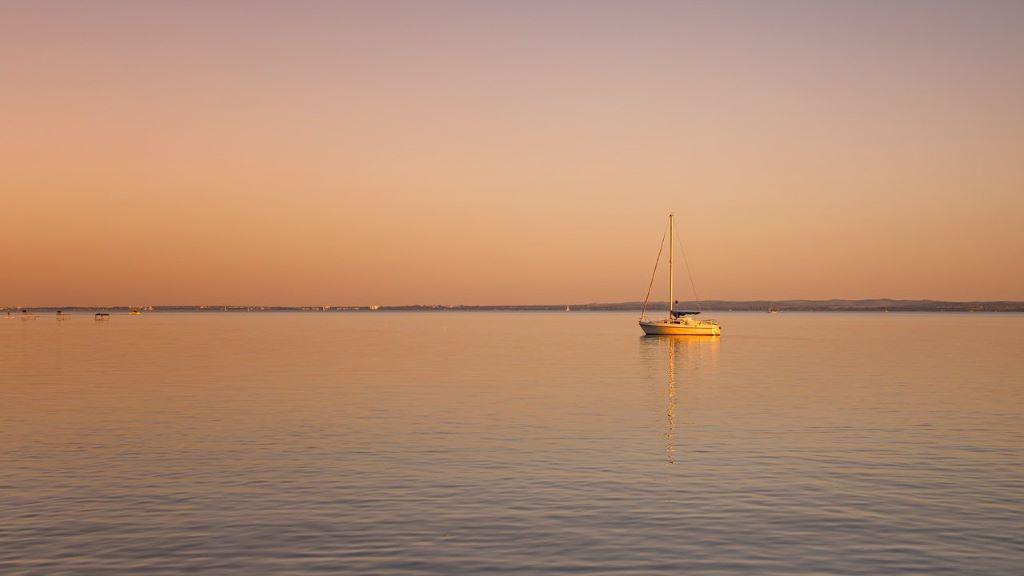 Balaton, nyár, naplemente