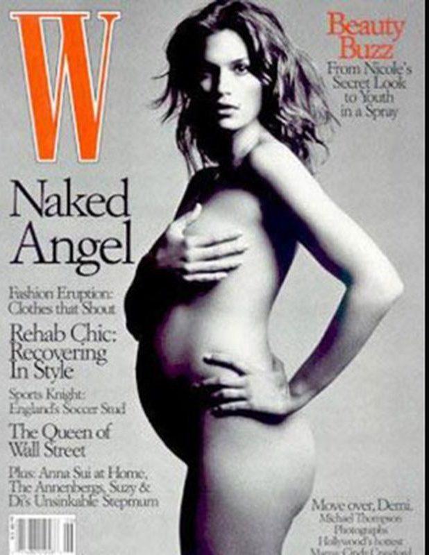 A várandós Cindy Crawford szintén megmutatta a meztelen igazságot