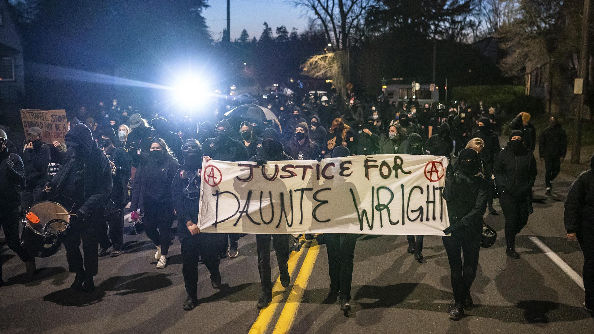 Tüntetés Daunte Wright halála miatt