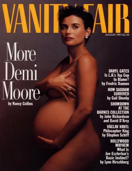 A várandós Demi Moore meztelen fotósorozata nagy port kavart 29 évvel ezelőtt